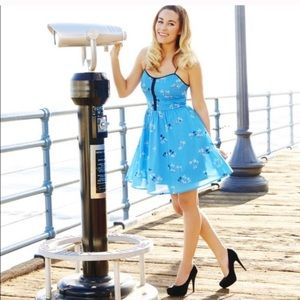 Lauren Conrad blue sailboat sundress size 10